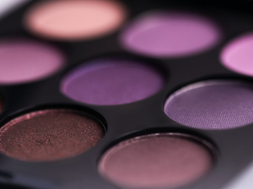 brown and purple eyeshadow palette